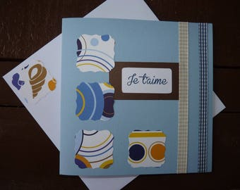 "Greeting card ""I love you"" blue"