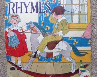 "100 yr. old Children's Book ROCKING HORSE RHYMES Leroy F. Jackson 1918 1st Ed. 13"""