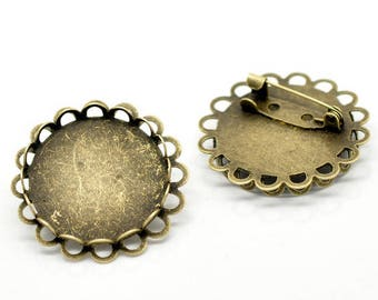 20 MM/5 Support brooch cabochon
