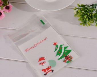 10 sachets bags pouches Father Christmas gift 15x10cm