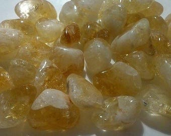 approximately 2.5 cm 1 wrapped Citrine stone