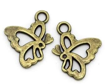 bronze 1 16 x 20 mm heart charm pendant