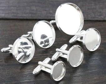 16 mm / 2 button cufflinks 16 mm cabochon