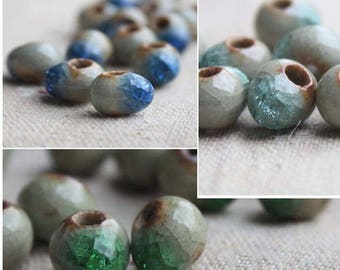 ceramic Crackle 10 mm 3 colors to choose 10 beads