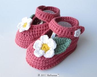 Chaussons bébé babies roses en coton bio