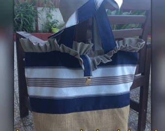 Beach bag and hair
