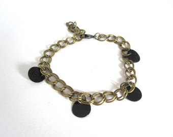 Bracelet sequins black and bronze Pearl