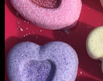Valentine heart bath bomb