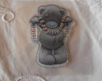 """Tampon clair en silicone / motif """"Teddy Bear"""""""