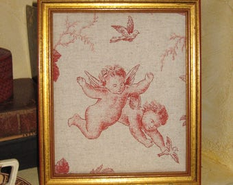 "Adorable frame toile de jouy ""Angels"""