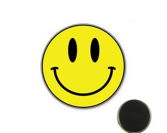 Smile yellow - 25 mm Magnet magnet