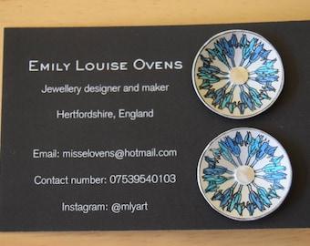 Anodised aluminium earrings