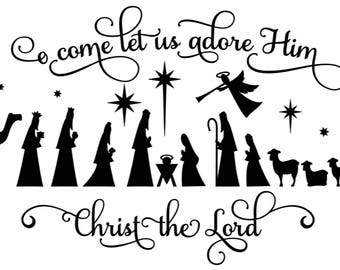 NATIVITY WISE MEN Decal