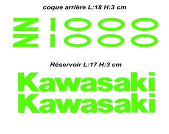 kawasaki green z1000 stickers