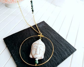 Buddha - gemstone pendant necklace