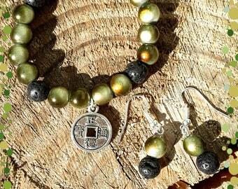 Bracelet zen theme with free earrings