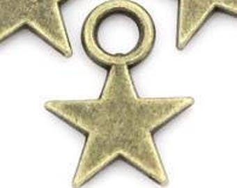set of 10 charms star