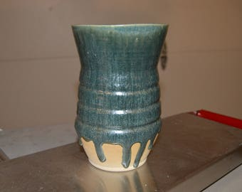Tall Blue/green vase
