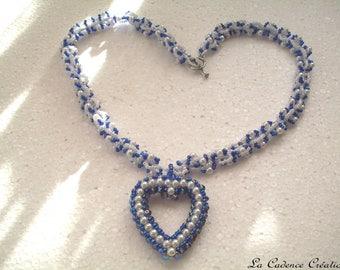 'My blue heart' necklace - Valentine's day
