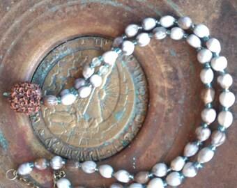 Mala Rudraksha Meditation Necklace Job's Tears