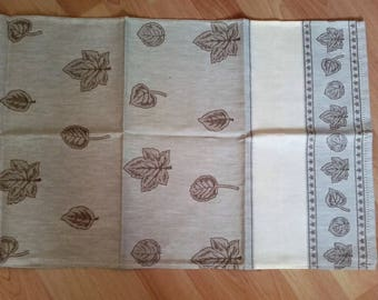 kitchen towels embroidered with canvas aida
