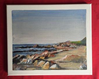Croisic: wild side. Original painting seascape.