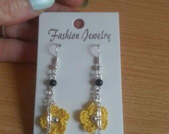 Earrings hand made charm and hook earrings