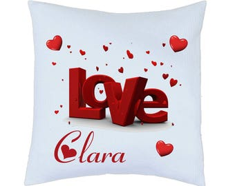 satin pillow love personalized sublimation printing