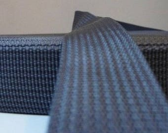 25 mm gunmetal grey polypropylene webbing