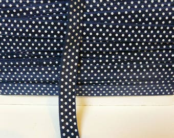 Through elastic 16 mm Navy blue white by the yard