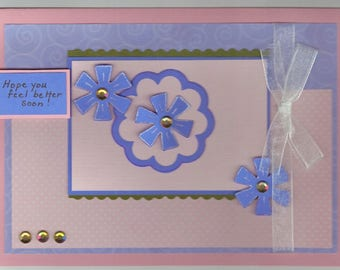 Get Well Card - Pretty Flowers