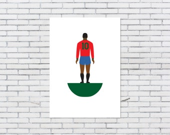 A3 Subbuteo-inspired 'Legends of #10' poster. PORTUGAL
