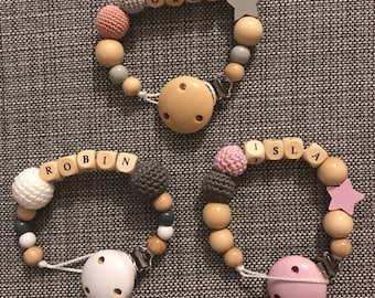 Personalised wooden dummy clips 5