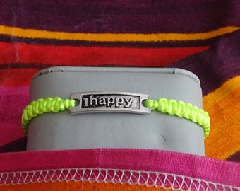 bracelet size teen or adult friendship with neon colors