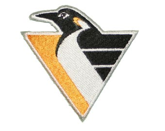 "1 Pittsburgh Penguins Iron On Patch 2.75"" embroidered team logo"