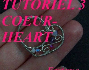 Tutorial 3 wire wrapped heart finish clasp