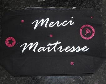 makeup, black cotton pencil case