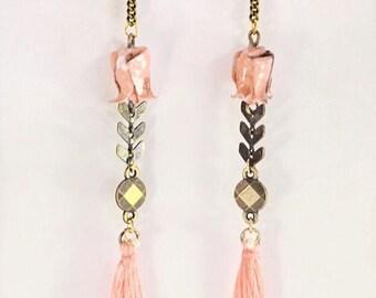 Origami lotus Onnagata 女形 earrings