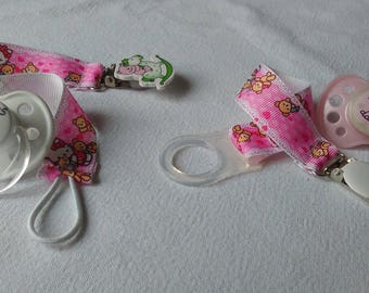 Sweet cotton Hello Kitty motif, set of 2, adapter, and elastic tie for baby