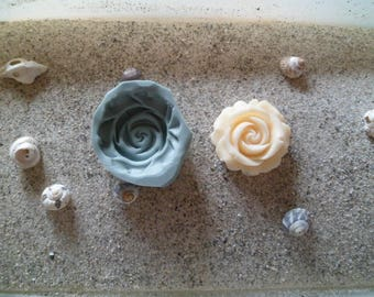 rose flower silicone mold for polymer clay wepam