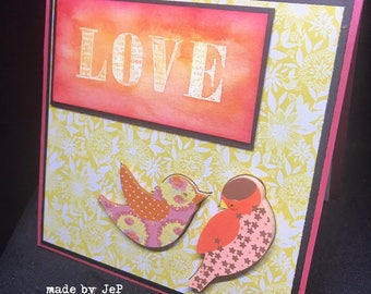 "soft and colorful card ""love""... unique!"