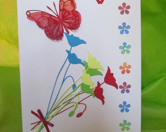 Floral with butterfly card