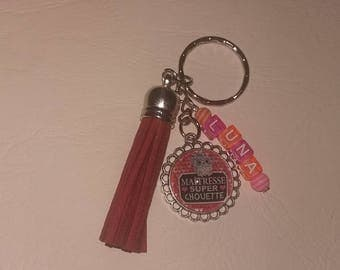 personalized teacher keychain
