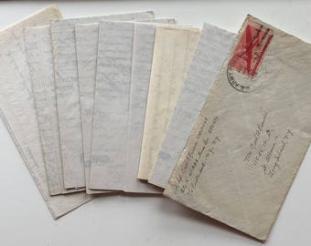 Lot of 7 handwritten letters 1903 des moines 1938 Briggs & Turivas stationary chicago 1945 army germany long island ny