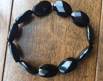 Black Glass Bracelet