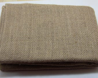 burlap natural linen fabric cut of 1 m 80 cm wide
