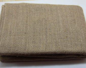 burlap natural linen fabric cut of 1 m 80 cm wide