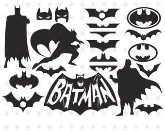 Batman Svg, Batman Sg File, Batman Vector, Batman Silhoutte, Batman Clip Art, Silhouette Cameo, Superhero Svg, Superhero Vector, Batman file