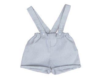Shorts/short straps were removable baby boy girl stripes chic