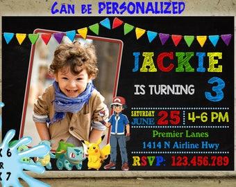 Pokemon Invitation, Pokemon Birthday Invitation, Pokemon Birthday Card Pikachu, Pokemon Pool Party, Pokemon GO Invitation, Pokemon Printable